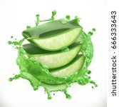 aloe juice  health and care 3d... | Shutterstock .eps vector #666333643