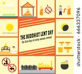 the buddhist lent day   Shutterstock .eps vector #666337096