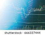 abstract financial candlestick...   Shutterstock . vector #666337444
