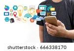 digital marketing new startup... | Shutterstock . vector #666338170