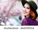 outdoor close up portrait of... | Shutterstock . vector #666339016