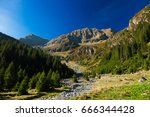 landscape in mountains with the ... | Shutterstock . vector #666344428