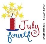 july fourth firecracker | Shutterstock .eps vector #666345340