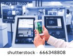 industry 4.0    concept  of man ... | Shutterstock . vector #666348808