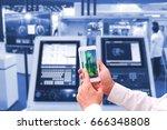 industry 4.0    concept  of man ... | Shutterstock . vector #666348808