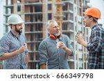 male work building construction ...   Shutterstock . vector #666349798