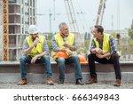 male work building construction ...   Shutterstock . vector #666349843
