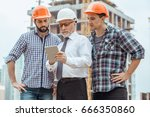 male work building construction ... | Shutterstock . vector #666350860