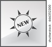 new sign web icon | Shutterstock .eps vector #666352300