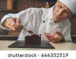 mature man professional chef... | Shutterstock . vector #666352519