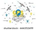 gps tracking vector... | Shutterstock .eps vector #666352699