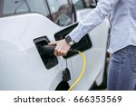 person transportation by eco... | Shutterstock . vector #666353569