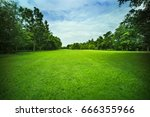 peaceful in a beautiful park... | Shutterstock . vector #666355966
