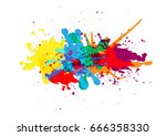 vector splatter color... | Shutterstock .eps vector #666358330