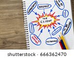 client need to be heard and... | Shutterstock . vector #666362470