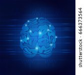 vector of brain cardiogram....   Shutterstock .eps vector #666373564