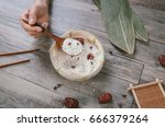 traditional ingredients of rice ... | Shutterstock . vector #666379264
