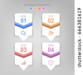 infographic template of four... | Shutterstock .eps vector #666381619