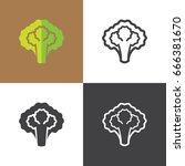 lettuce icons | Shutterstock .eps vector #666381670