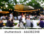 abstract blur music in the... | Shutterstock . vector #666382348