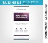 eye catching business roll up...   Shutterstock .eps vector #666383050