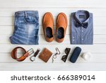 fashionable concept  men's...   Shutterstock . vector #666389014