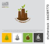Logo With Plant Or Factory...