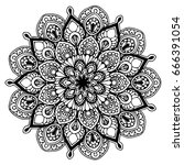 mandalas for coloring book.... | Shutterstock .eps vector #666391054