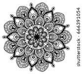 mandalas for coloring book.... | Shutterstock .eps vector #666391054