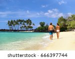honeymoon travel beach vacation ... | Shutterstock . vector #666397744