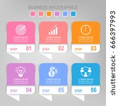 infographic template sixr steps ... | Shutterstock .eps vector #666397993