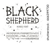 vector font from bones.... | Shutterstock .eps vector #666399730
