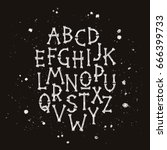 vector font from bones.... | Shutterstock .eps vector #666399733