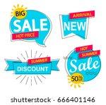 set of modern sale  discounts... | Shutterstock .eps vector #666401146