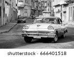 havana  cuba october 15 old car ... | Shutterstock . vector #666401518