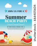 Beach Party Invitation Poster...