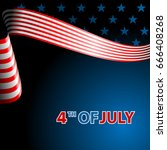 july fourth  independence day.... | Shutterstock .eps vector #666408268