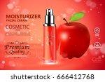 luxury cosmetic bottle package... | Shutterstock .eps vector #666412768