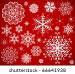 snowflake background design | Shutterstock . vector #66641938