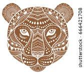 tiger decorative ornamental... | Shutterstock .eps vector #666421708
