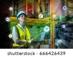 industry and internet of things ...   Shutterstock . vector #666426439