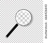realistic magnifying glass... | Shutterstock .eps vector #666426643