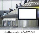 mock up lcd screen public... | Shutterstock . vector #666426778