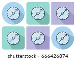 outlined icon of compass with... | Shutterstock .eps vector #666426874