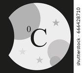 celsius symbol illustration.