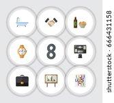 flat icon oneday set of... | Shutterstock .eps vector #666431158