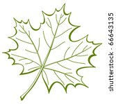 Leaf Maple Nature Symbol Monochrome Vector Stock Vector Royalty