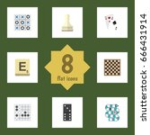 flat icon games set of x o ... | Shutterstock .eps vector #666431914