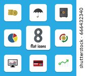 flat icon gain set of growth ... | Shutterstock .eps vector #666432340