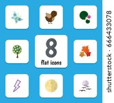 flat icon ecology set of tree ... | Shutterstock .eps vector #666433078